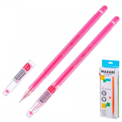 Ручка гелев. LEXY РОЗОВАЯ 0,5мм кристалл арт.M-5507-76 (12/576шт)