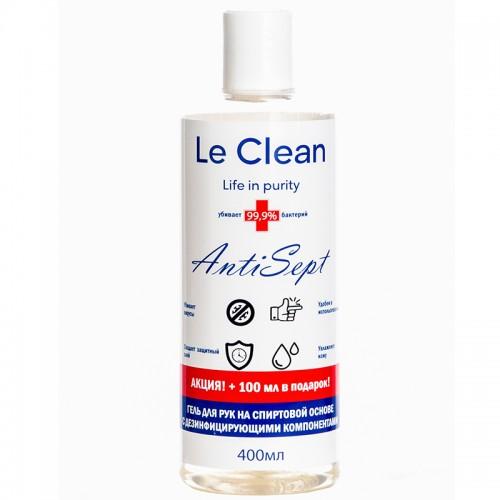 Антисептик д/рук гелев.Le Clean Antisept  400ml с дозатором арт.LC-G400SD (1/28шт)