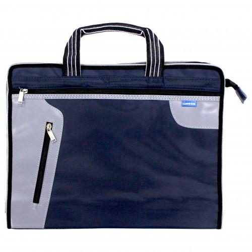 Папка -портфель на молнии CONNIEс ручками,тканев.2отд арт.8861 (1/96шт)