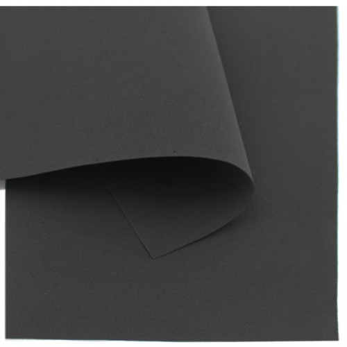 Фоамиран (21*30см) 1,0мм ЧЕРНЫЙ 10л (цена за 1л) арт.7035 (10/600л)