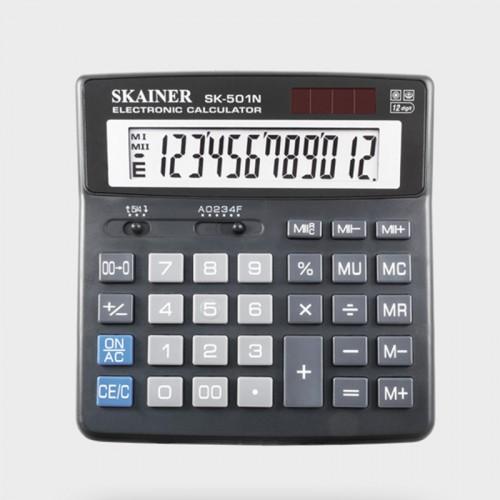 Калькулятор SKAINER 12 разр.(156*157*33мм) арт.SK-501 N (1/15шт)