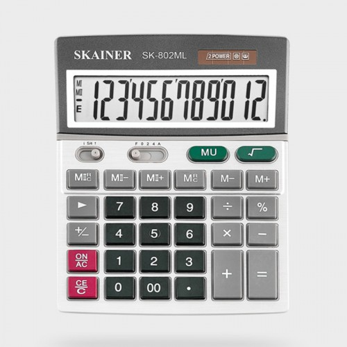 Калькулятор SKAINER 12 разр.(140*176*45мм) арт.SK-802 ML
