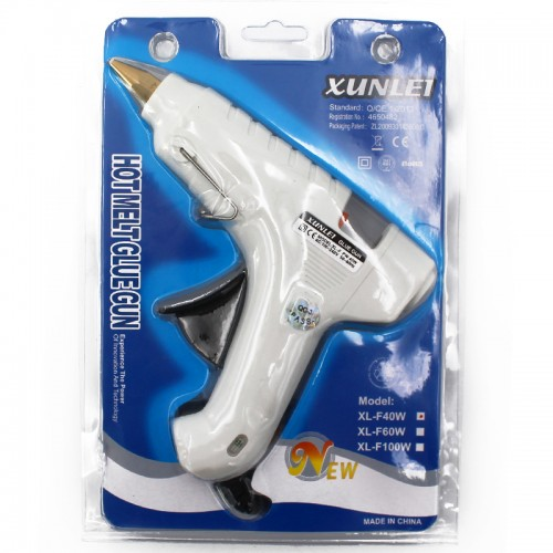 Клеевой пистолет 40W с терморег. арт.5678 (1/48шт)