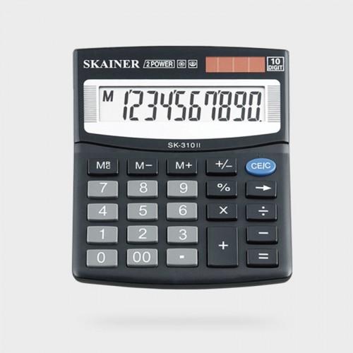 Калькулятор SKAINER 10 разр.(100*124*32мм) арт.SK-310 ll