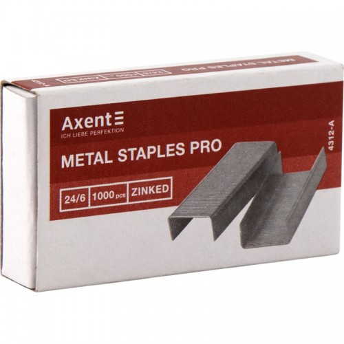 Скобы AXENT Pro 24/6 1000шт арт.4312-А (20/500шт)