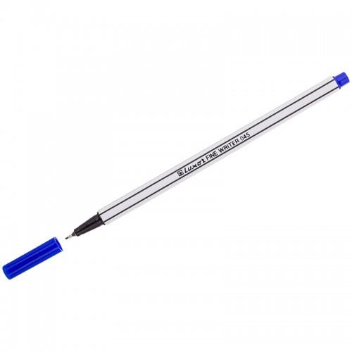 "Ручка капиллярная Luxor ""Fine Writer 045""0.8мм СИНЯЯ арт,7142,7122 (1/10шт)"