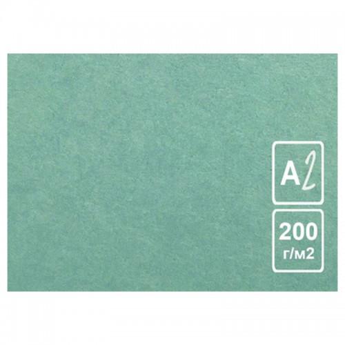 Картон цветной А2 ЗЕЛЕНЫЙ тонированный 200г/м2 арт.КЦ А2зел. (50шт)