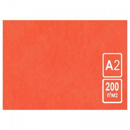 Картон цветной А2 КРАСНЫЙ тонированный 200г/м2 арт.КЦ А2роз. (50шт)