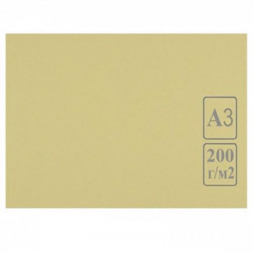 Картон цветной А3 СЛОНОВАЯ КОСТЬ тонированный 200г/м2 арт.КЦ-2902 (50шт)