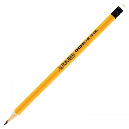 Карандаш ч/гр с ласт. HB желтый корпус арт.80055 (144/2880шт)