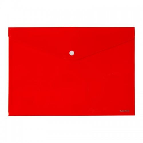 Папка на кнопке А4 AXENT пласт. НЕПРОЗР. КРАСНАЯ арт.1412-24-А (12/240шт)