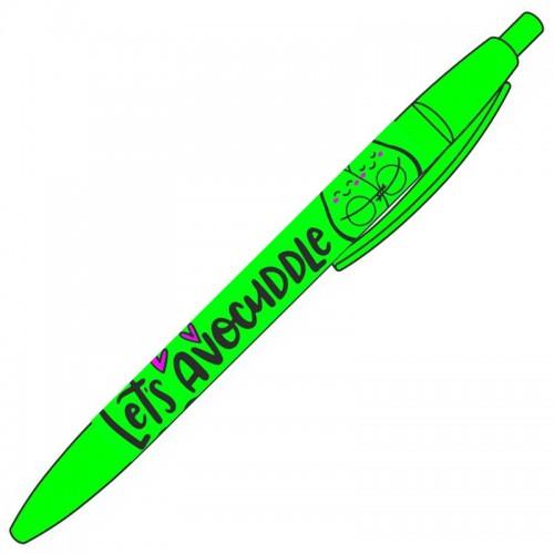Ручка шар. авт. LETs AVOCUDDLE  СИНЯЯ 0,7мм рез.грип в тубе арт.87905 (36шт)