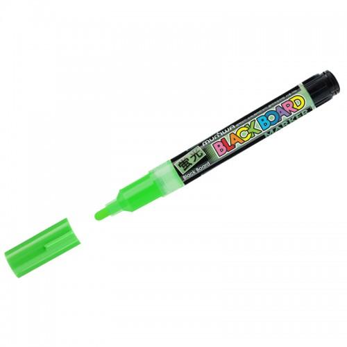 "Маркер меловой ""Black Board Marker"" ЗЕЛЕНЫЙ 3мм водн.основа арт.BM-04 (1/12шт)"