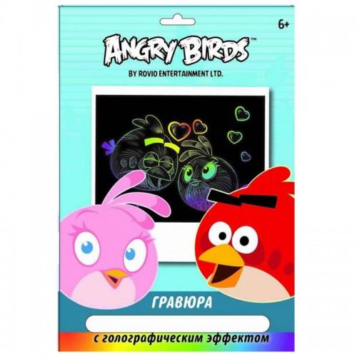"""Гравюра  Centrum """"Мальчик и девочка""""ANGRY BIRDS (24*18cm) арт.85005.85003.85004.85006"""