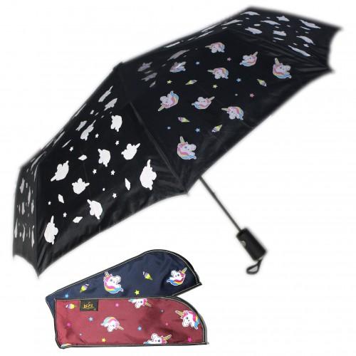 """Зонт """"ЕДИНОРОЖКА"""" проявляющийся рисунок, п/авт. арт.3837А"""