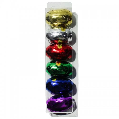 Лента д/упак.подарков 0,5см*5м набор 6шт ассорти цена за 1шт арт.11070 (6/72/1440шт)