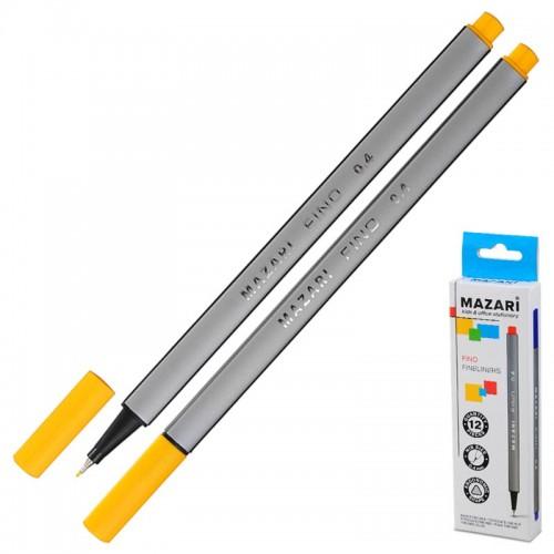 Ручка капиллярная FINO трехгр. 0,4мм ЖЕЛТАЯ арт.М-5300-78 (1/12/1728шт)