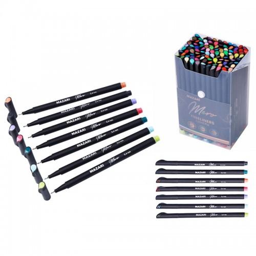 Ручка капиллярная MERO 0,4мм 100цв набор арт.М-5393-100 (1/3/6наб)