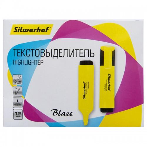 Текстовыделитель BLAZE 1-5мм ЖЕЛТЫЙ скошен.нак.1192334 арт.108036-05 (1/12шт)