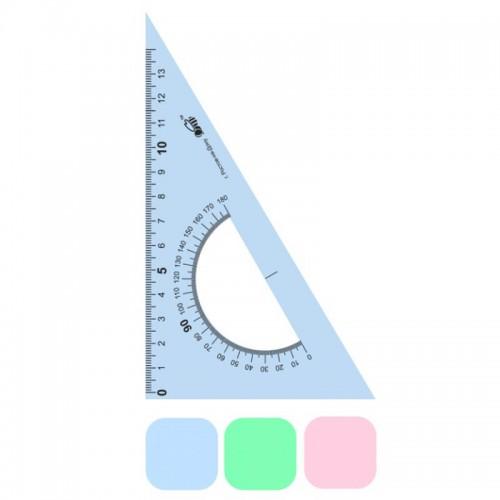 Треугольник пластик. 15см 30/60+транспортир арт.ТТ-15 (1/20/800шт)