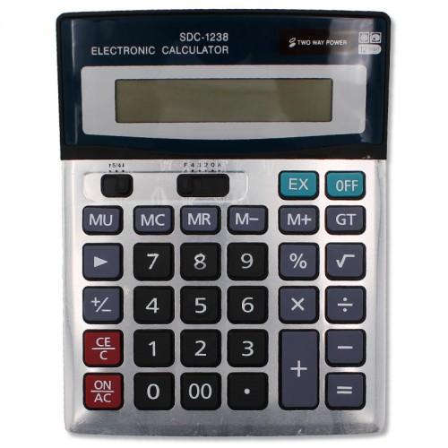 Калькулятор 12 разр. 19*15см. арт.SDC-1238 (1/30/90шт)
