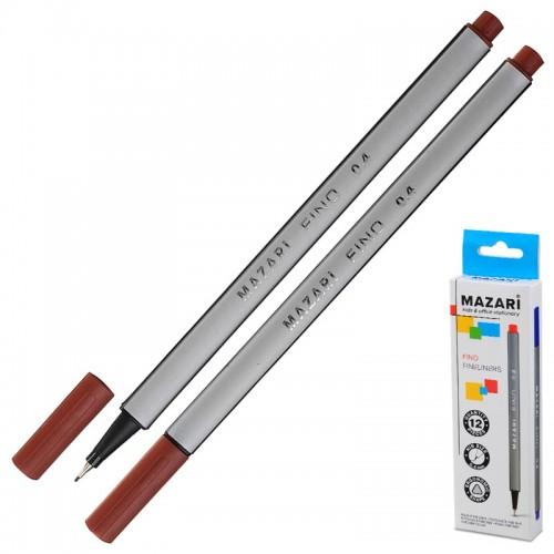 Ручка капиллярная FINO трехгр. 0,4мм КОРИЧНЕВАЯ арт.М-5300-85 (1/12/1728шт)