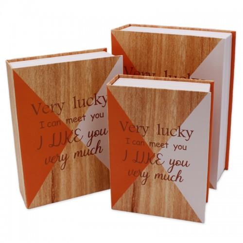 Коробка-книга 3шт VERY LUCKY (29,5*22,3*8;26*19,2*7;23*16,2*6) арт.SY371-8029 (1/24наб)