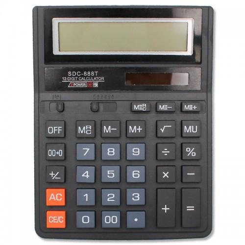 Калькулятор 12 разр.16*21см арт.SDC-888Т (1/30/90шт)