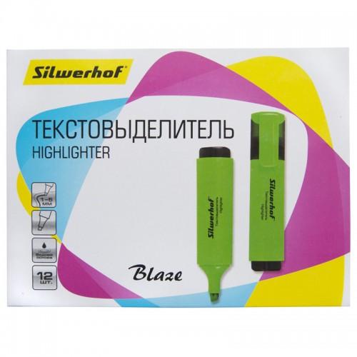 Текстовыделитель BLAZE 1-5мм ЗЕЛЕНЫЙ скошен.нак.1195470 арт.108036-03 (1/12шт)