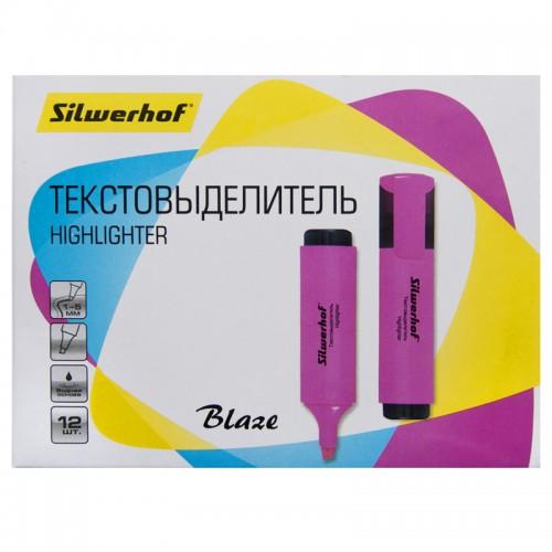 Текстовыделитель BLAZE 1-5мм РОЗОВЫЙ скошен.нак.1192337 арт.108036-08 (1/12шт)