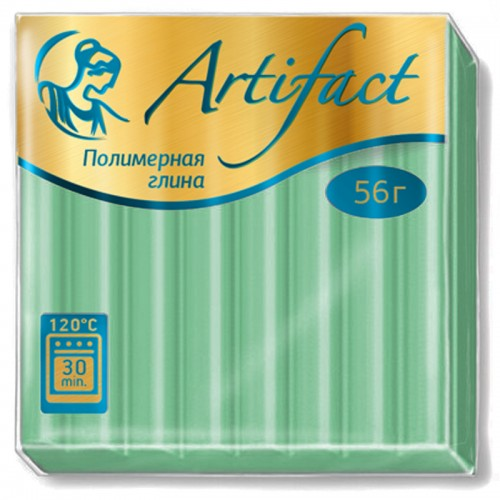 "Пластика ""Артефакт"" ЗЕЛЕНЫЙ ПЕРЛАМУТР 56гр №757 арт.Р0531 (1/10шт)"