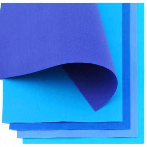Фоамиран (21*30см) 1,0мм набор СИНЯЯ ГАММА 10л арт.7030 (1/60наб)