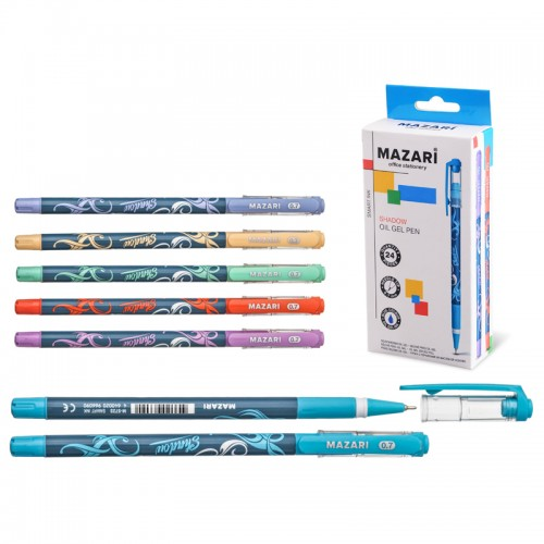 Ручка шар. SHADOW СИНЯЯ 0,7мм иг.нак. на масл.(Индия) арт.M-5723-24 (24/600шт)