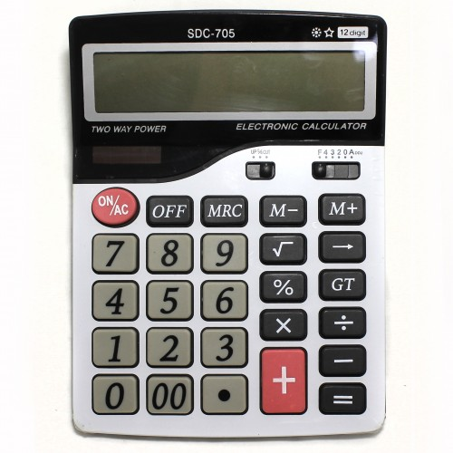 Калькулятор 12 разр. 20*15см арт.SDC-705