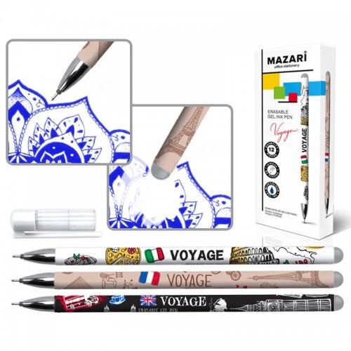 Ручка гелев. пиши-стирай VOYAGE СИНЯЯ 0,5мм иг.нак. арт.M-5531 (12/864шт)