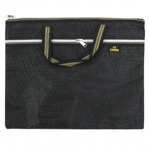 Папка -портфель на молнии CONNIEс ручками,тканев.цв.асс. арт.8855 (1/240шт)