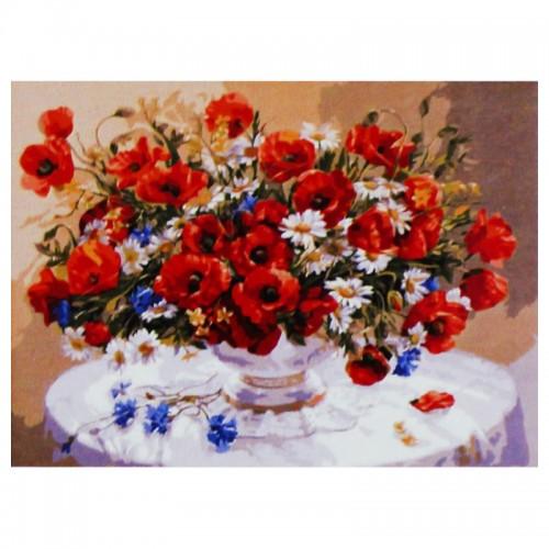 Картина по номерам (30*40см) БУКЕТ МАКОВ арт.31461 (1/30шт)