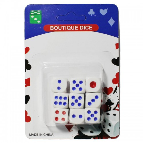 Набор кубиков игральных (9шт.) арт,4271