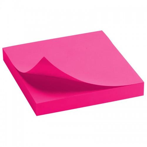 Блок бумаги с липк.слоем (75*75мм)100л ЯРКО-РОЗОВЫЙ арт.D3414-13 (1/24/288шт)