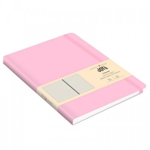 Блокнот А5 иск.кожа 96л Joy Book ДЫМЧАТО-РОЗОВЫЙ 7БЦ на рез.,точка арт.БДБТ5963012 (1/30шт)