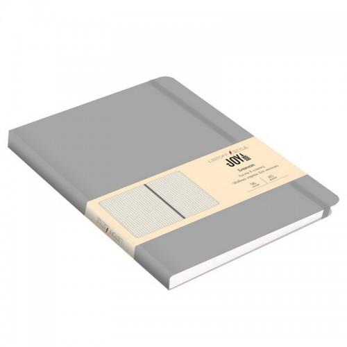 Блокнот А5 иск.кожа 96л Joy Book СЕРЫЙ 7БЦ на рез.,точка арт.БДБТ5963011 (1/30шт)