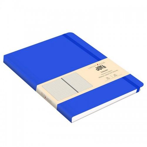 Блокнот А5 иск.кожа 96л Joy Book СИНИЙ 7БЦ на рез.,точка арт.БДБТ5963015 (1/30шт)