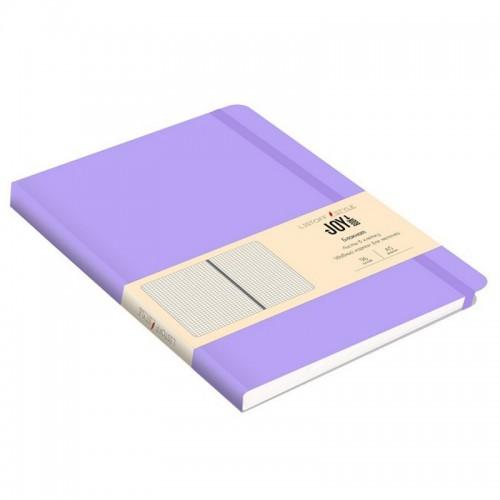 Блокнот А5 иск.кожа 96л Joy Book ЛАВАНДОВЫЙ 7БЦ на рез.,клетка арт.БДБК5963008 (1/30шт)