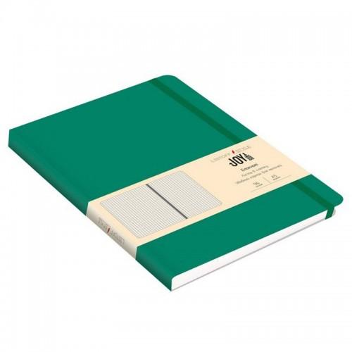Блокнот А5 иск.кожа 96л Joy Book ИЗУМРУДНЫЙ 7БЦ на рез.,точка арт.БДБТ5963013 (1/30шт)