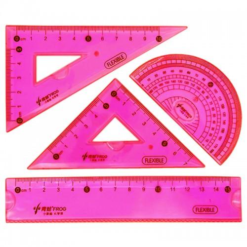 Набор чертеж.пласт.гибкий CLASSIC 15см 4предм. арт.MY-1032 (1/24/384наб)