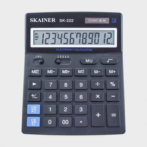 Калькулятор SKAINER 12 разр.(140*176*45мм) арт.SK-222