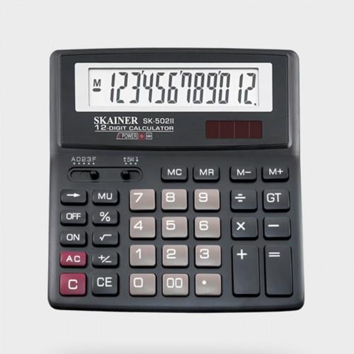 Калькулятор SKAINER 12 разр.(156*157*33мм) арт.SK-502 II (1/15шт)