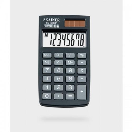 Калькулятор SKAINER 8 разр.(58*88*10мм) арт.SK-108 XBK