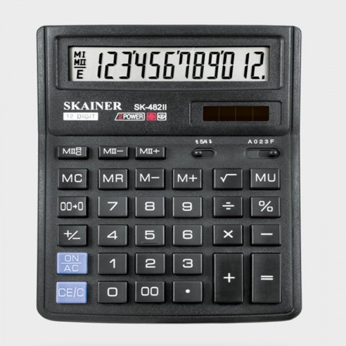 Калькулятор SKAINER 12 разр.(143*192*39.5мм) арт.SK-482 II