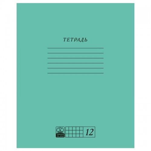 Тетрадь 12л клетка ЗЕЛЕНАЯ ОБЛОЖКА арт.EAC-9314 (1/180шт)